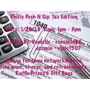 Other - Philadelphia Posh N Sip: Tax Edition 1/20/18
